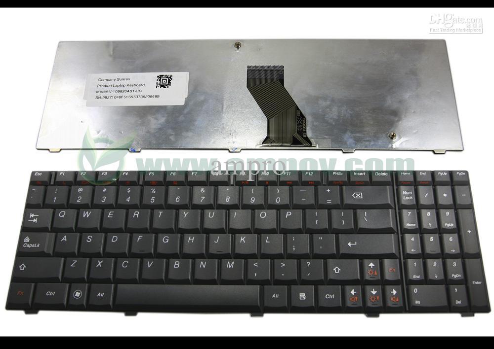 new laptop keyboard for lenovo ideapad u550 black us layout v