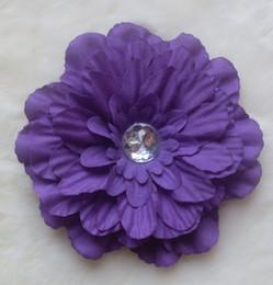 Wholesale Blue Gerbera - Hot! 13 Colors 4'' Peony Children's Hair Accessories Girls Flower Clip,gerbera baby beautiful flower