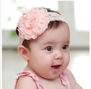 Baby Headbandrose Silk Flower Pattern Baby Hairbandchildren Lace