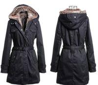 ingrosso crema artificiale-2014 New Artificial Fur coat Lining Winter Warm Woman Giacca lunga nera color crema S M L XL XXL