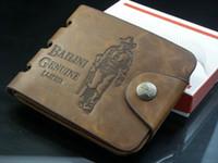 Wholesale Leather Wallet Cowboy Men Pockets - Brand new men's wallet fashion cowboy leather wallet pockets card clutch centre bifold purse for men