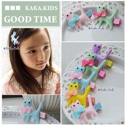 Wholesale Plastic Kids Hair Accessories - Multicolor Hairpin Cartoon Cat Hair Clips Kids Hair Accessories Girls Hair Clips Child Accessories