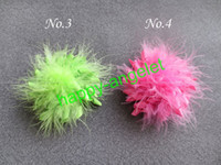 "Wholesale Marabou Hair Bows Wholesale - New fashion Girl 3.5 ""marabou feather Corker Hair bows korker Bow Clip flower 100 pcs lot popular"