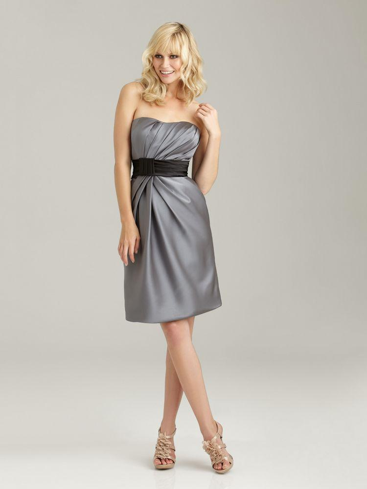 2013 Stylish Designer Champagne Silver Knee Length Short Bridesmaid ...
