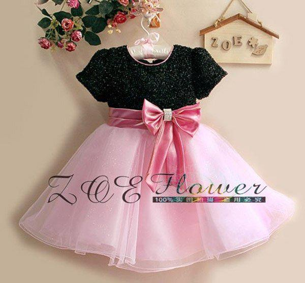 2017 Children's Birthday Dresses Flower Girl Dress Gauze Party ...