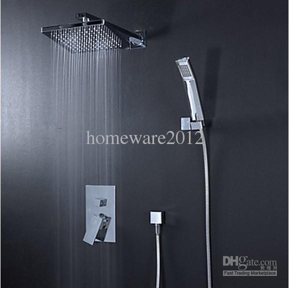 overhead rain shower head with handheld. 2018 8 Bathroom Rainfall Shower Head  Arm Hand Spray Valve Faucet Set Jy104 From Homeware2012 95 48 Dhgate Com