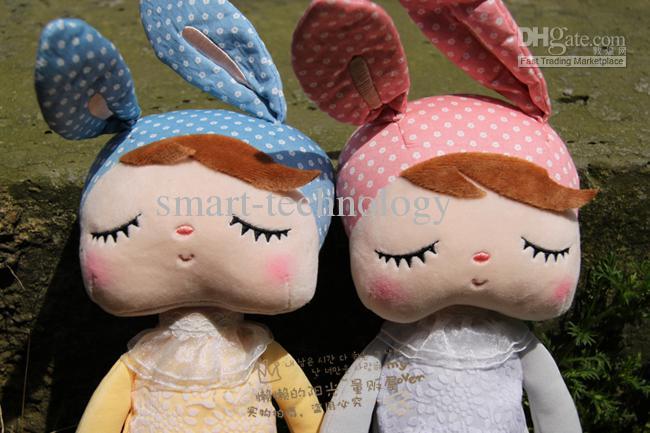 Angela plüschtiere metoo gefüllte kaninchen puppen spielzeug schöne boxen kinder weihnachtsgeschenke