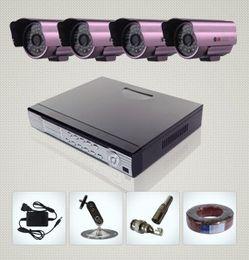 Wholesale H 264 8ch Cctv Dvr - 8CH H.264 Surveillance DVR 4 Day Night Weatherproof Security Camera CCTV System from kakacola shop