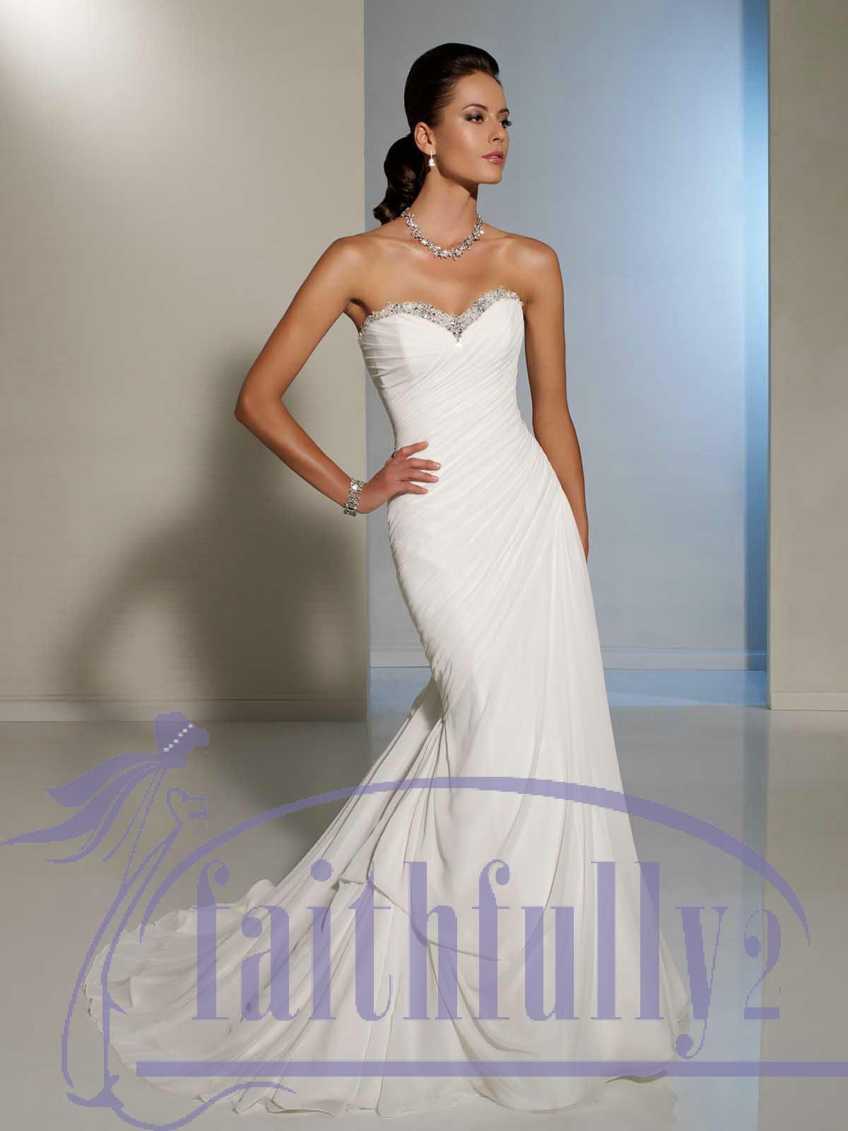 elegant sweetheart sheath wedding dress beaded neck accent pleated