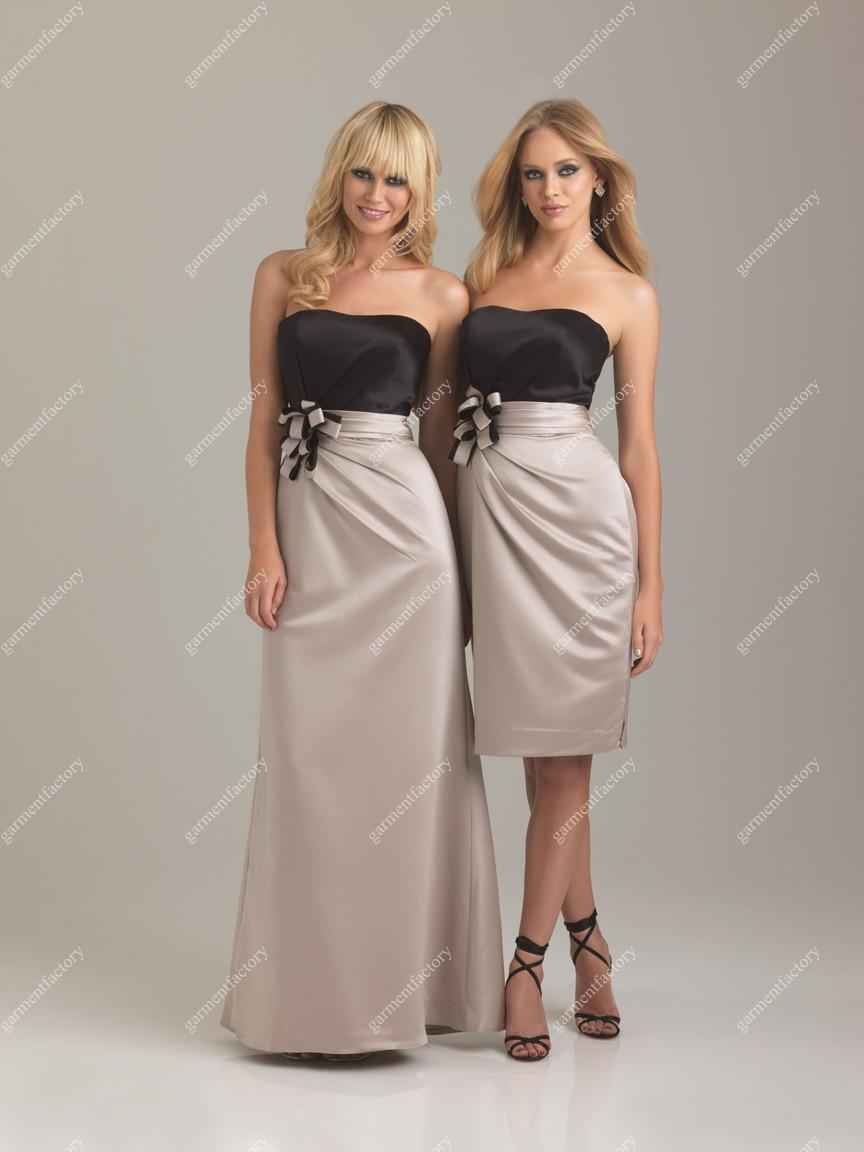 2013 latest strapless column black and nude satin long bridesmaid 2013 latest strapless column black and nude satin long bridesmaid dress two colour bridesmaid dress designers bridesmaid dresses brisbane from ombrellifo Image collections