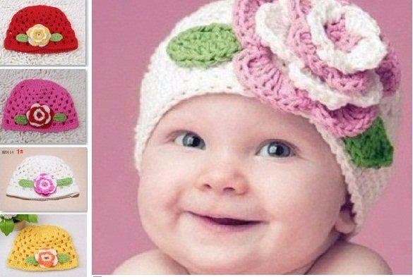 2019 Baby Girls Boys Unisex Children Kids Infant Crochet Bonnet Flower Hat  Cap Knitted Knit Free From Bandd 6e5a361ca17