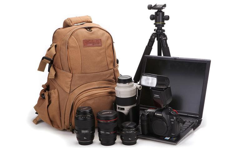 Online Cheap Bbk S1 Canvas Dslr Camera Bag Backpack Rucksack Bag ...