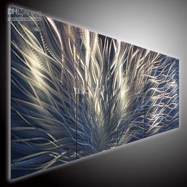 Modern Art Line Painting : Metal art modern abstrtact wall oil painting
