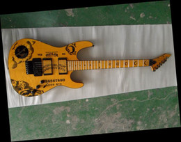 Wholesale Electric Guitars Ouija - New KH-2 Ouija Old Yellow Limited Edition Electric Guitar-One Piece Body 121218