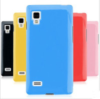 Wholesale Optimus L9 Back Cover - Cheap silicon case soft cover Colors back protector rubber skin for LG Optimus L9 P760 in stock
