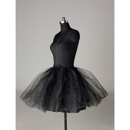 Wholesale Tulle Crinoline Skirt - Free shipping black tulle mini skirt underskirt petticoat crinoline pannier underwear wedding accessories vestidos de noivsa