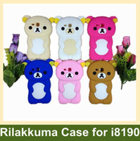 Wholesale Galaxy S3 Rilakkuma - Wholesale Lovely Rilakkuma Pattern Cover Case for Samsung Galaxy SIII S3 Mini i8190 10pcs lot