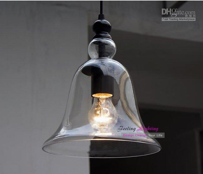 Modern Small Bell Pendant Light Glass Pendant Lights Suspension Lamp 1 Light Dinning Room Light Study Room Light Clear Glass Pendant Light Glass