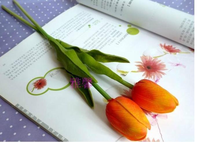 ラテックスリアルタッチチューリップの花24ピース30センチのPU人工シミュレーションのためのチューリップの花のための家の装飾