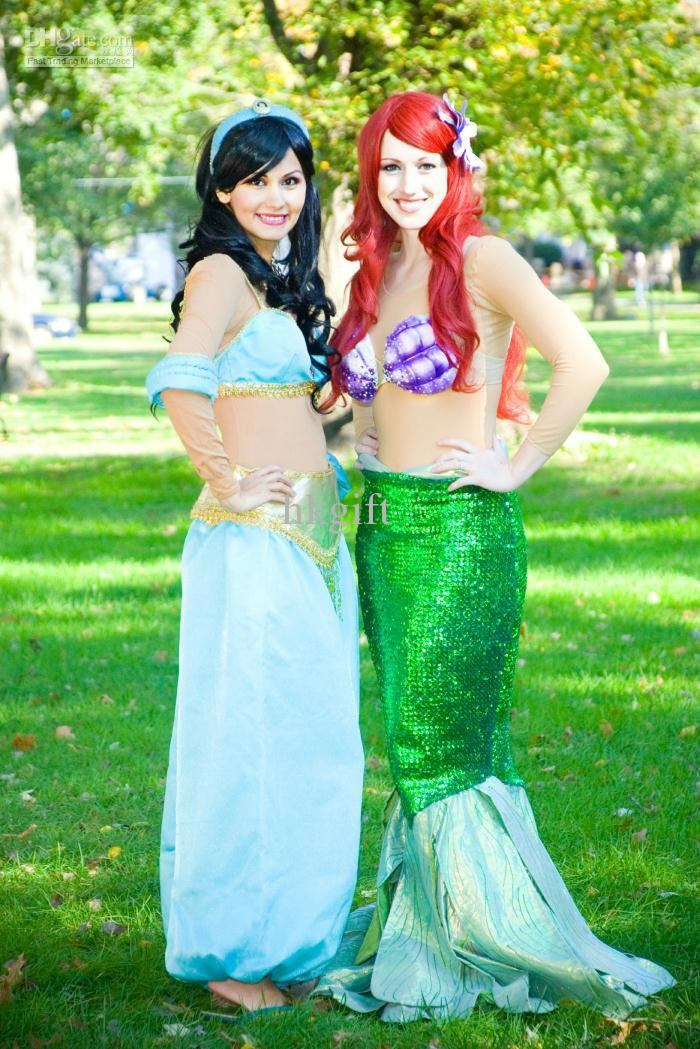 Custom Made Princess Jasmine Cosplay Costumes Adult Size Carnival ...
