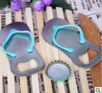 ingrosso apribottiglie di flip flop-Regalo Apri Bottiglia di Birra Bomboniera Flip-Flop Sandalo Opener Slipper Wine Opener