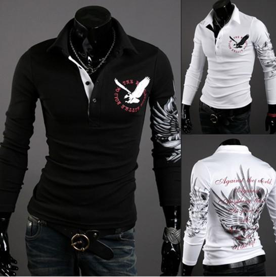 Men's Polos Wholesaler Happy_snow Sells New Fashion Eagle Tattoo ...
