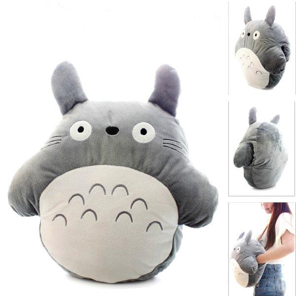 Totoro Pillow Cushion Baby Plush Toys Grey Lovely Soft