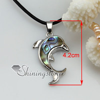 Wholesale Wholesale Shell Jewellery - dolphin shell pendant mother of pearl jewelry abalone shell jewelry Mop6032 cheap china fashion jewellery