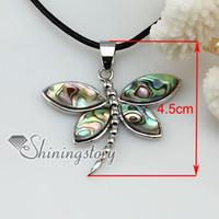 Wholesale Sea Shell Mother Pearl Pendant - dragonfly mother of pearl pendant sea shell jewellery Fashion jewelry necklace Mop8041 high fashion jewellery