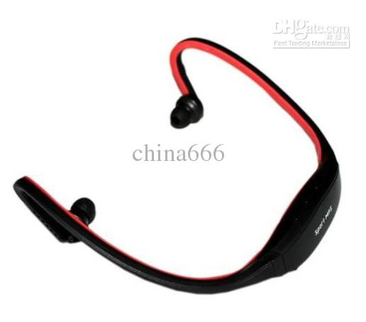 New Earphone Sports MP3 WMA Music Player Wireless Handsfree Headset Micro SD TF Card
