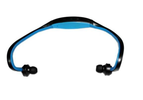 Nuevo auricular deportivo MP3 WMA Reproductor de música Auricular manos libres inalámbrico Tarjeta Micro SD TF