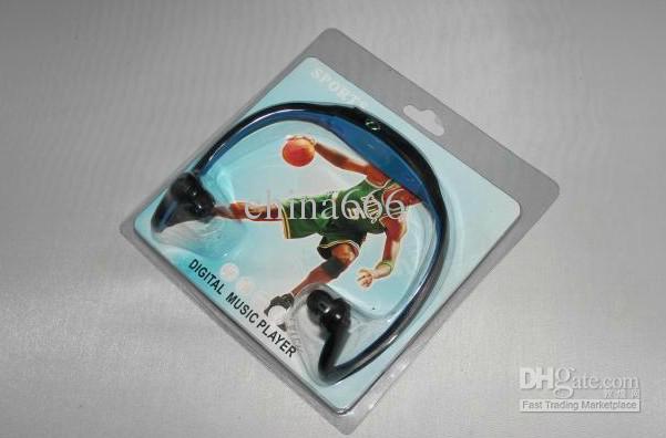 Novo fone de ouvido Sports MP3 WMA Music Player fone de ouvido sem fio Handsfree Micro SD TF cartão