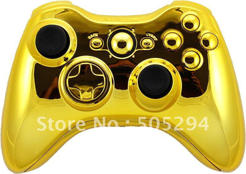 All Xbox 360 Controllers : Chrome gold full housing shell for xbox controller