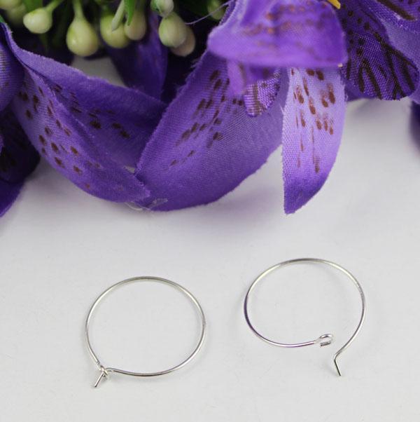silberne Ton-Weinglas-Charme-Draht-Band-Ohrringe 20mm # 22528 FREIES VERSCHIFFEN