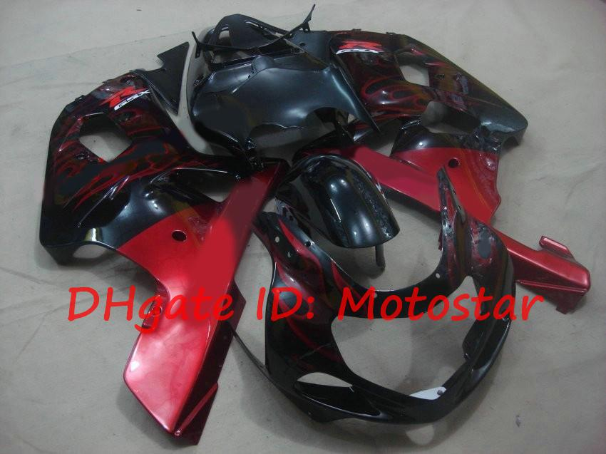 S612 Red flame for SUZUKI 2001 2002 2003 GSXR 600 750 K1 fairngs kit GSXR600 GSXR750 01 02 03