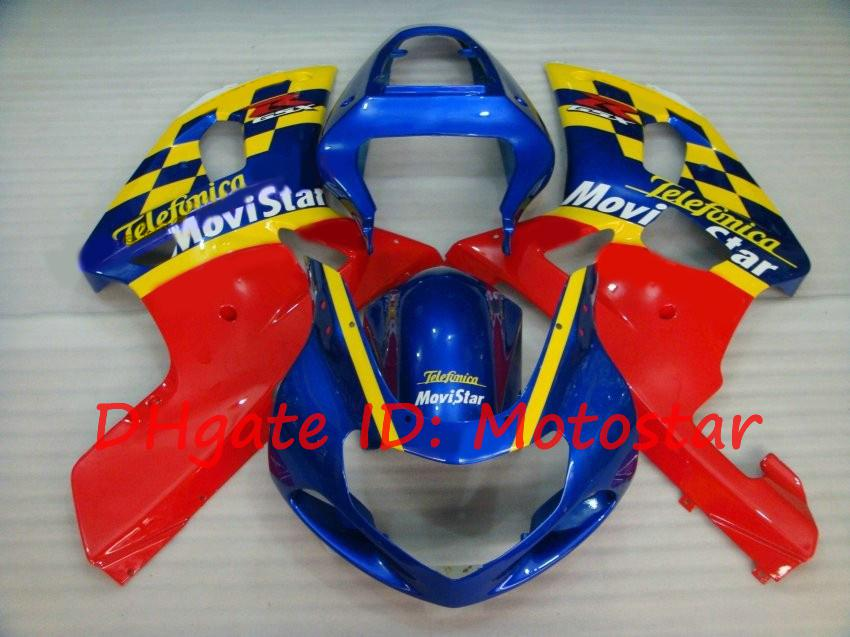 S614 Movistar for SUZUKI 2001 2002 2003 GSXR 600 750 K1 fairngs kit MV GSXR600 GSXR750 01 02 03