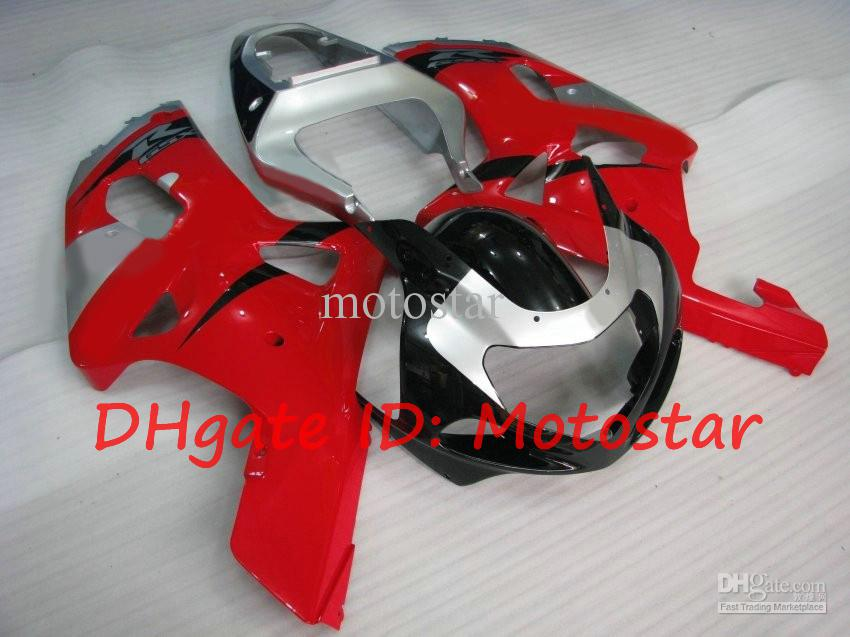 S619 Red silver for SUZUKI 2001 2002 2003 GSXR 600 750 K1 fairng kit RS GSXR600 GSXR750 01 02 03