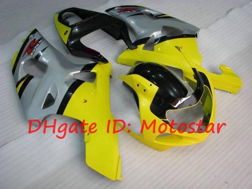 S61C yellow silver for SUZUKI 2001 2002 2003 GSXR 600 750 K1 fairng kit YS GSXR600 GSXR750 01 02 03