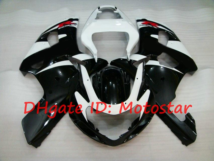 S61F white black for SUZUKI 2001 2002 2003 GSXR 600 750 K1 fairng kit BW GSXR600 GSXR750 01 02 03