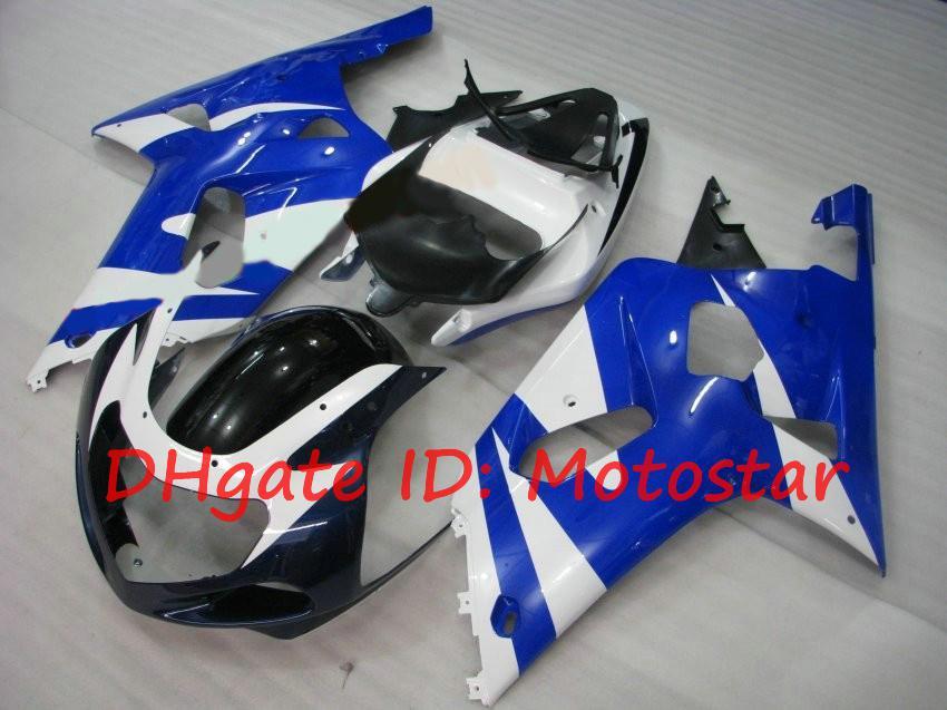 Kit de carenización azul de la bicicleta para Suzuki GSXR600 GSXR750 2001 2002 2003 S61Q GSXR 600 750 K1 01 02 03