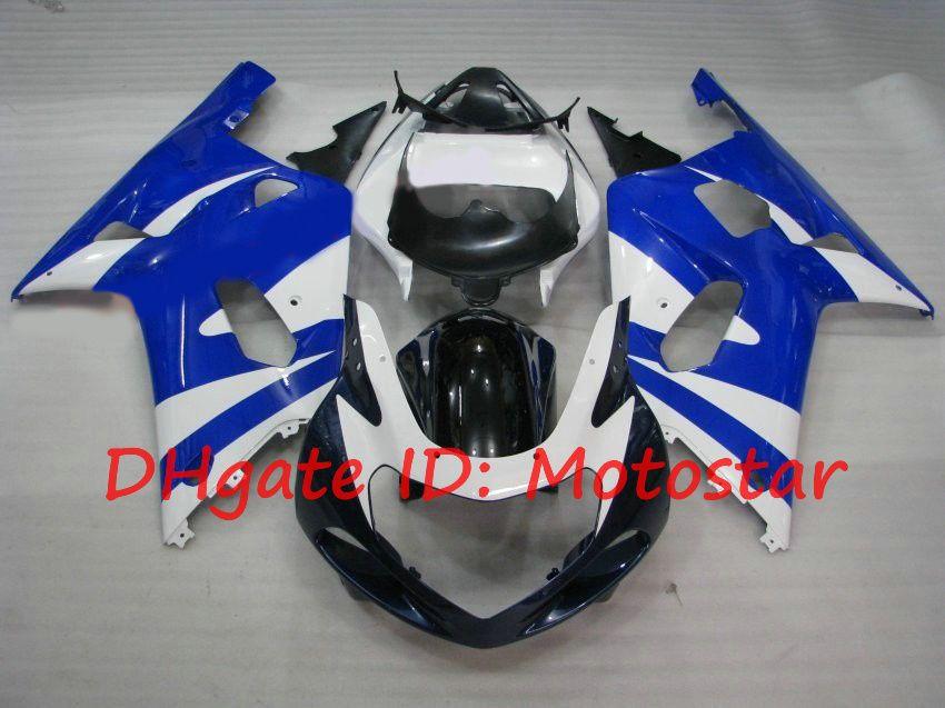 Road Bike Blue Fairing Kit för Suzuki GSXR600 GSXR750 2001 2002 2003 S61Q GSXR 600 750 K1 01 02 03