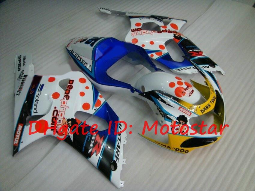 Kit de carénage fashion pour Suzuki GSXR600 GSXR750 2001 2002 2003 Téléphone PePe GSXR 600 750 K1 01 02 03