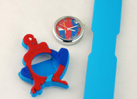 Wholesale Slap Watch Cars - Children Candy Spiderman Pixar Cars Toys Gift 3D Silicon Snap Slap Watch Boy Girl Jelly Kids Cartoon