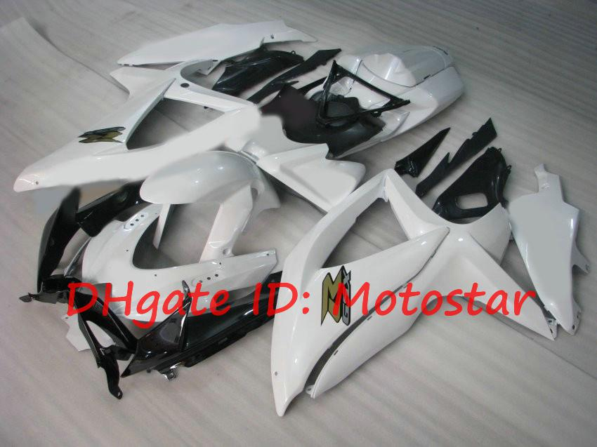 White fairings kit for suzuki GSXR 600 750 2008 2009 2010 K8 GSXR600 GSXR750 08-10 GSX-R750 GSX-R600