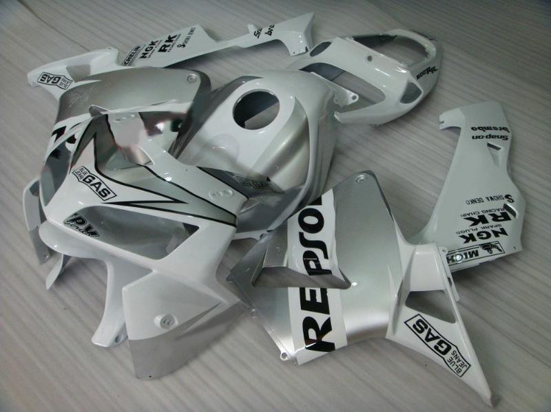 Carenados de REPSOL de siver ABS Careing para HONDA CBR600RR 2005 2006 CBR 600RR CBR600 F5 05 06 carenados