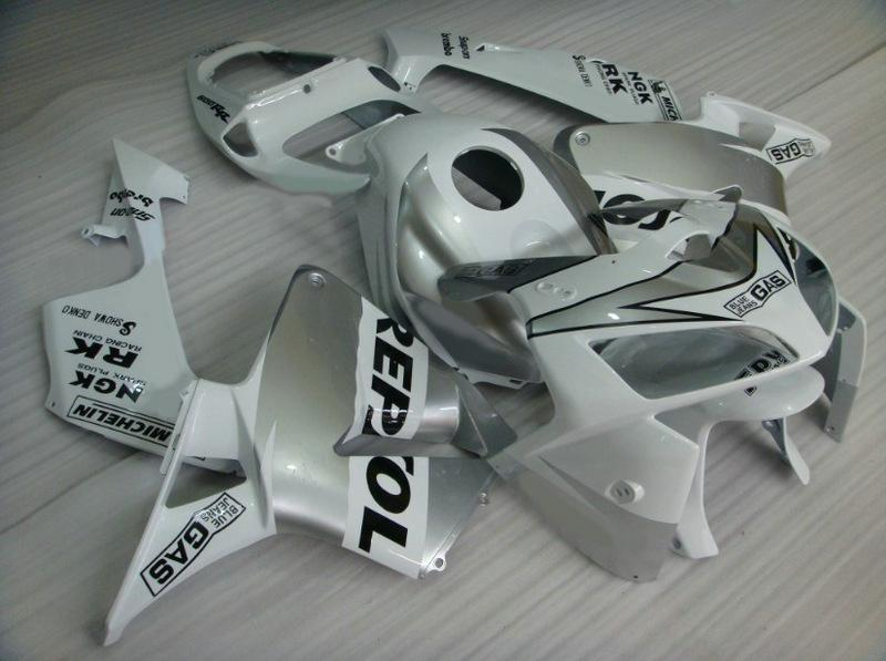 siver REPSOL Injection mold ABS Fairings for HONDA CBR600RR 2005 2006 CBR 600RR CBR600 F5 05 06