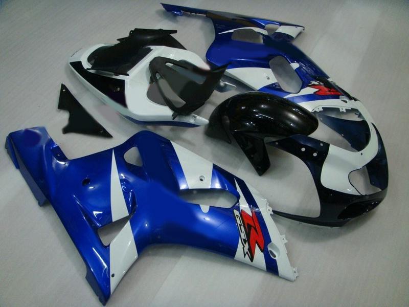 Blaue Verkleidungen für Suzuki GSXR 600 750 2001 2002 2003 K1 Fabrik Verkäufer Freies Verschiffen Kostenloser Windschutzscheibe