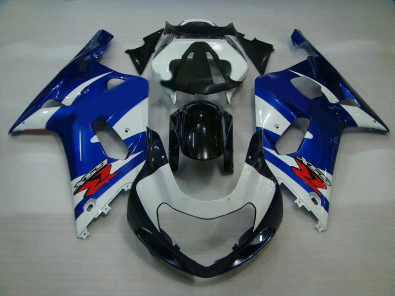 BLUE Fairings for SUZUKI GSXR 600 750 2001 2002 2003 K1 Factory seller Free Shipping Free Windscreen