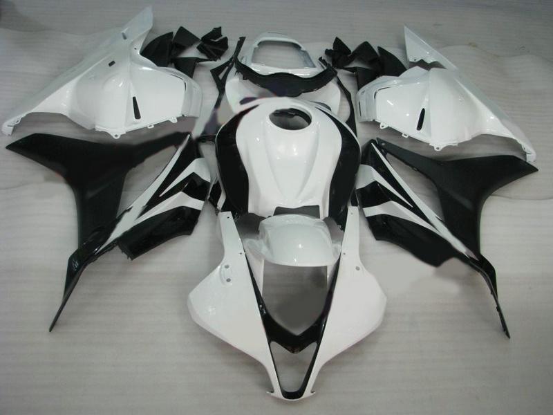 H6912 혼다 CBR600RR 용 화이트 블랙 ABS 페어링 키트 2009 2010 2011 CBR 600RR CBR600 RR F5 09 10 11