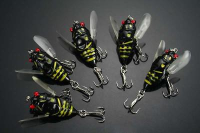 Topwater Fishing Lures Insect Hook Bass 64g